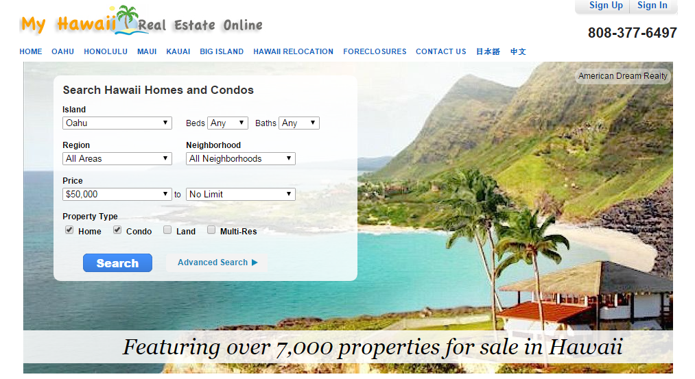 Hawaii Real Estate Banner